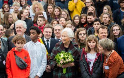 Bezoek van H.M. Koningin Paola aan het Institut de la Sainte-Union in Dour